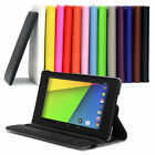 PU LEATHER 360 ROTATING STAND CASE COVER FOR ASUS GOOGLE NEXUS 7 2 BRIGHT COLOUR