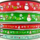 "3/8""9mm &1""25mm mixed colors christmas grosgrain ribbon 5 yards U pick"