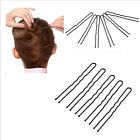 50/100pcs Women's U Style Hairpin Black Alloy Bobby Pin Hair Accessories