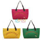 Women Sweet Shoulder All-match Handbag Tote Hobo Bag Canvas Satchel Shoppers Red