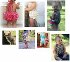 * NEW * SATIN RUFFLE BUBBLE ROMPER POSH GIRLS BABY TODDLER OUTFIT BOUTIQUE S M L