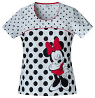Limelight Minnie Cherokee Disney Tooniforms Round Neck Scrub Top 6710CB MNLL