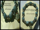 8mm FACETED AQUAMARINE BEADED STRETCH BRACELET ~ SILVER ~ GOLD ~ SPACERS ~ CHARM