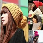 Warm Knitted Unisex Oversized Winter Slouch OR Turn Up Cuffed Beanie Bobble Hat
