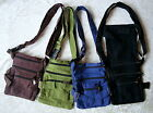 FAIR TRADE HIPPY BOHO COTTON DUAL USE SHOULDER TRAVEL PASSPORT BAG UTILITY BELT