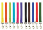 Nylon Dog Leash Lead 4 or 6 foot Bright & Basic Solid Colors 11 colors 2 sizes