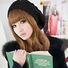 Fashion Women Beauty Soft Warm Winter Beret Braided Baggy Beanie Ski Cap Hat O
