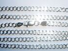 "SOLID STERLING SILVER 18"" 20"" OR 24"" CURB CHAIN NECKLACE IDEAL FOR HEAVIER CHARM"