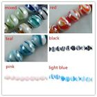 24pcs Glass Round Bead Spacers 6colors-1 14mm P351-P356