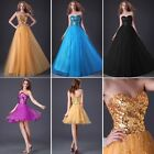 2-style Sweetheart Sequins Tulle Dress Evening Party Prom Bridesmaid Ball Gown