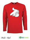 DRAKE MICKEY MOUSE HANDS YMCMB YOLO Sleeve T-Shirts  S-XXL FREE P&P - Red