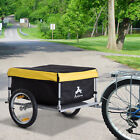 Aosom Steel Frame Bicycle Bike Cargo Trailer Luggage Cart Carrier For Shopping <br/> 2 Colors:Red/Yellow! Solid Metal Bottom! Free Shipping!
