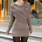 Pullover Ladies THICKEN Package Hip Long Knitted Sweater Dress  [JG]
