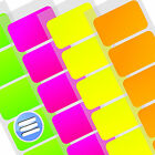 1000 x SELF ADHESIVE NEON COLOUR CODE RETAIL STICKER LABEL/ LABELS [1.5cm x 2cm]