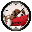 KING CHARLES CAVALIER SPANIEL WALL CLOCK DOG PET GIFT DECOR PERSONALIZED 10 INCH