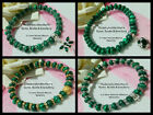 6 x 8mm MALACHITE ABACUS BEADS STRETCH BRACELET ~ GOLD, SILVER OR GREEN SPACERS