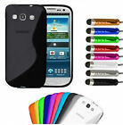 GRIP S-LINE WAVE SILICONE GEL CASE COVER FOR SAMSUNG  MOBILE PHONE  SCREEN GUARD