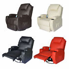 Massage Recliner Sofa Leather Vibrating Heated Chair Lounge Executive w/ Control