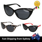 Sexy Ladies Cat Eye Sunglasses Black Red Leopard Trendy Vintage Fashion Costume