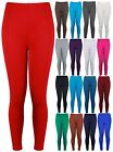 New Ladies Plus Size Stretch Jersey Leggings Womens Trousers Long Pants 12 - 26