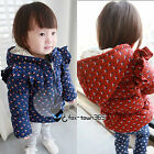 Autumn/Winter Warm Thick Toddlers Girls Baby Kids Leave Owl Coat Jackets 0-3Yr
