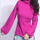 Women Wool Lantern SleeveTops Slim Turtle Neck Pullover Knitted Sweater  [JG]