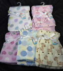 NEW Luxury Soft Plush Fleece BABY BLANKET Kids Newborn Babies Blue Pink Designs
