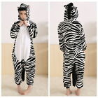Unisex Animal Zebra Onesie Kigurumi Fancy Dress Cosplay Costume Jumpsuit - B01