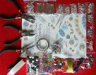 Large Jewellery Making Kit Silver Plated Findings Earring Pin Chain Bead Tool B1