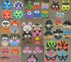 Big selection of various EVA foam masks FREE POSTAGE pirate animal superhero etc