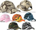 Camo Baseball Cap Hat Camouflage Adjustable Cotton Twill Unstructured NEW
