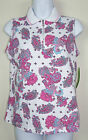 NWT $46 ALLYSON WHITMORE GOLF Petite Womens Paisley Zip Up Polo Sleeveless PS PL