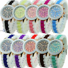 Mens Womens Bling jelly Silicon Silicone Bracelet Wrist Watch Ladies Girls boys