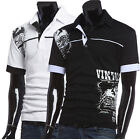 Fashion Men's Slim Fit Short Sleeve T-shirt Sports POLO Shirts Casual Tops Tees