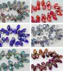 Nice 20PCS Teardrop Crystal 8x16mm Spacer Beads Jewelry Findings ※ Pick Color
