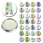 INITIAL MINI-MIRRORS / BADGES / MAGNETS-CHRISTMAS BIRTHDAY HEN MOTHERS DAY GIFTS