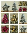 17/20 Silver Gold or Red Hanging Christmas Tree Small Baubles/Balls/Decorations