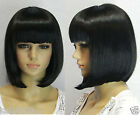 Stylish Short Human Made Straight Hair wig/wigs+free hairnet gift