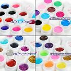 12 Color Pure Glitter Solid UV Gel Polish Cleanser Remover Nail Art Tips Kit