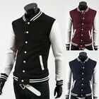 Stylish Mens Varsity Letterman College Trendy Coat Baseball Jacket Size S M L XL