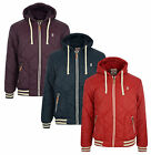 New Soul Star Men's Padded Quilt Red Navy Plum Hooded Jacket S M L XL Coat