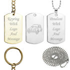 Personalised VW Beetle Key Ring or Dog Tag Pendant 60's Volkswagen Birthday Gift