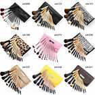 Fräulein3°8 12 Pcs Wooden Brushes Set Cosmetic Make Up Brush Applicator 9 Types