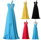 Hot Sale Beaded Chiffon Long Formal Party Evening Prom Bridesmaid Wedding Dress
