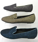 *SALE* LADIES SPOT ON FLAT GLITTER CASUAL PUMP SHOES F8877 BLACK GOLD AND BLUE