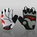 New COOL Men's Outdoor Sports Team Cycling Bike Bicycle Half Finger Gloves XS~L