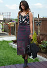 ZARA BNWT CHECKED/FLORAL COMBINED DRESS ALL SIZES 2013 A/W COLLECTION