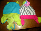 UNISEX HATS CHILDREN BOYS GIRLS OWL DOG BLUE GREEN PINK GRAY CHARACTER