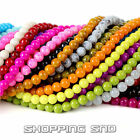 Wholesale Top Quality Czech Opaque Coated Glass Round Loose Beads 3MM-16MM DIY