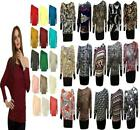 LADIES PLUS SIZE BAGGY LONG JUMPER WOMENS BATWING TOP SKULL ROSE LOVE CITY AZTEC